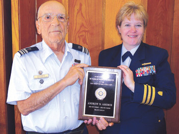 Coast Guard Auxiliary honors 50-year member Andy Assimos