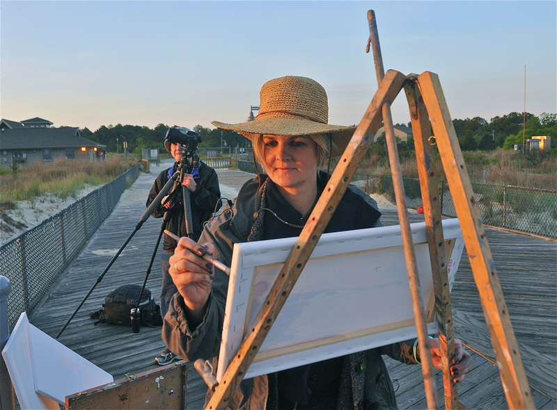 Plein air coastal delaware arrives cape gazette for Rehoboth beach fishing