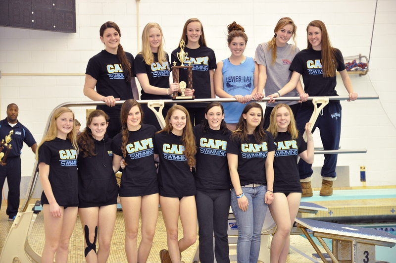 Cape Girls 39 Swimmers Win Conference Meet Cape Gazette