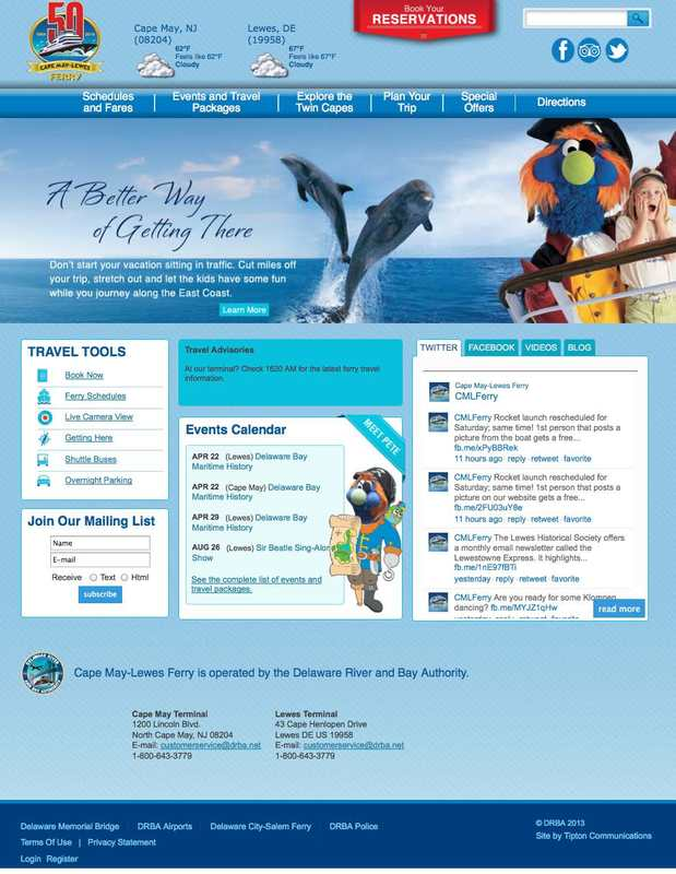 Cape May – Lewes Ferry Introduces New, Improved Website