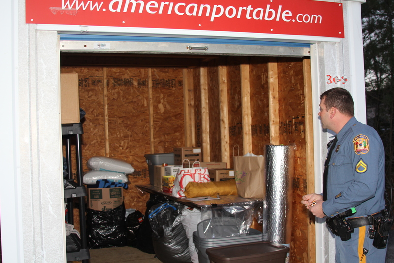 The storage unit donated by Jeff Burton at American Portable Storage sits in the parking lot of Troop 7. BY MELISSA STEELE & Cape Region residents help homeless | Cape Gazette