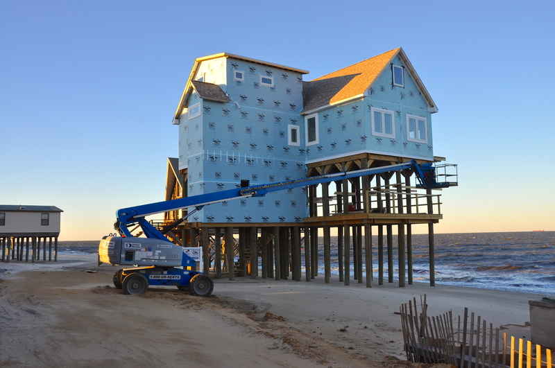 Building In A Floodplain Requires Stricter Standards Including Elevation And Break Away Construction This House Was Built Along Broadkill Beach