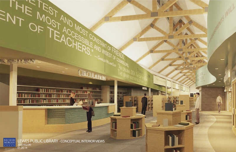 New Lewes Public Library Plans Advance Interior Conceptual Design Is Modern Contemporary A