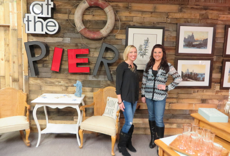 Salvaged Furniture Store Owners Michelle Hepting, Left, And Brynn Byerly  Have Created Another Pallet Wall With Repurposed Shingles And Letters They  Acquired ...