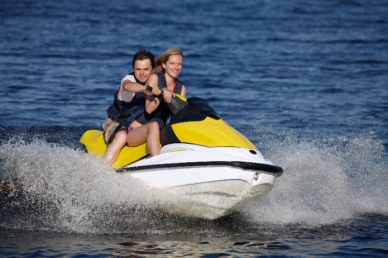 A Enjoying One Of Dewey Beach Watersports New Jet Skis Courtesy