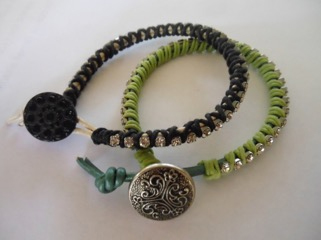Rhinestone And Leather Wrap Bracelet Making Class Set In Milton July