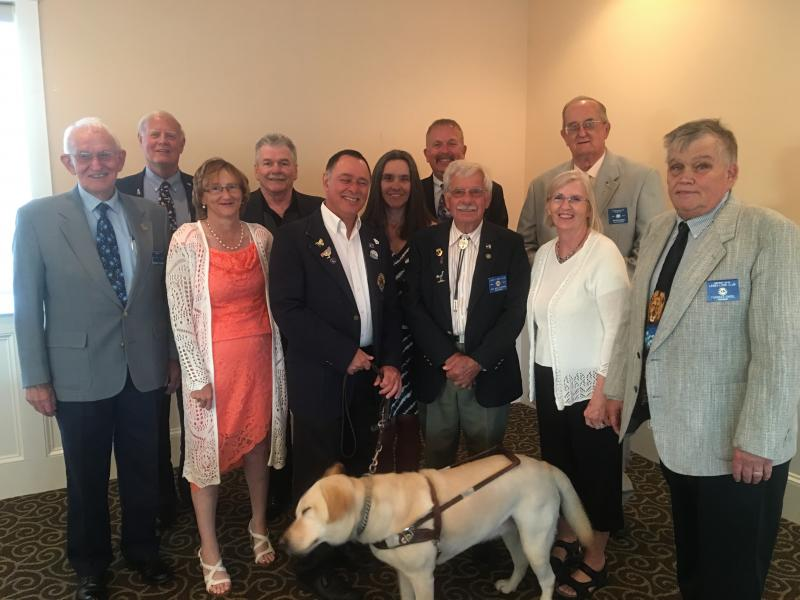 Lewes lions club officers shown are l r charles covington jeff