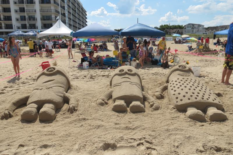 Minions Soaked Up Some Sun During A Recent Year S Sandcastle Contest Submitted Photo