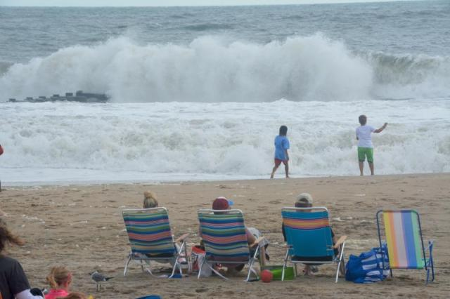Surf Continues To Break Along The Sline In Rehoboth Beach Sept 4 Prompting Patrol Keep People Out Of Water Ron Macarthur Photo