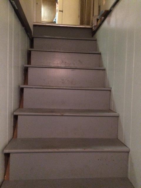 my steep and creepy basement stairs
