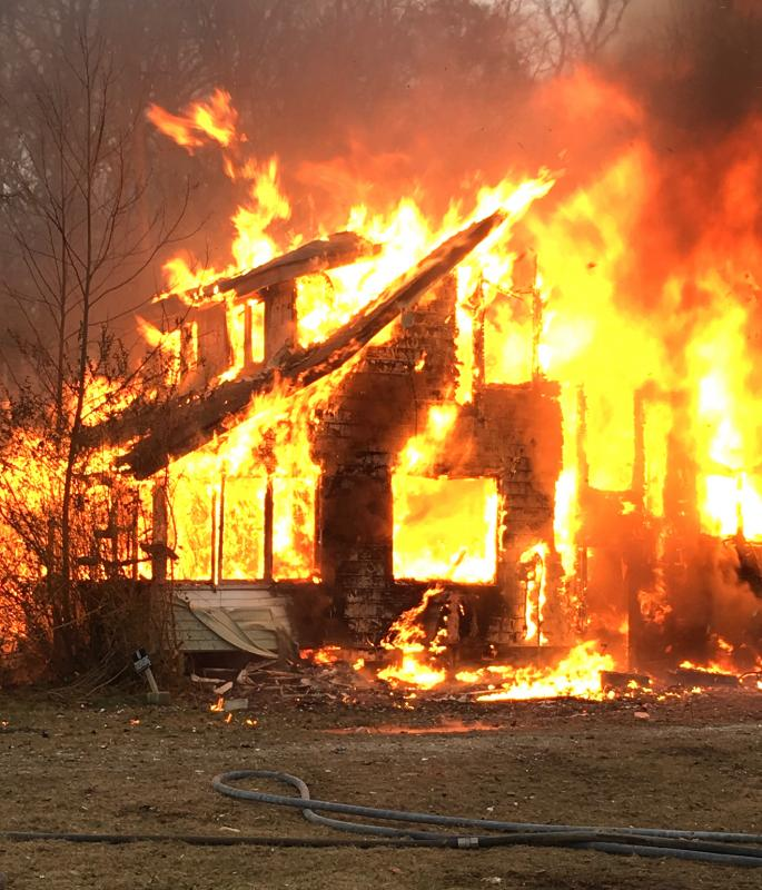 Lewes Fire Department Burns Down House, Eyesore On Route