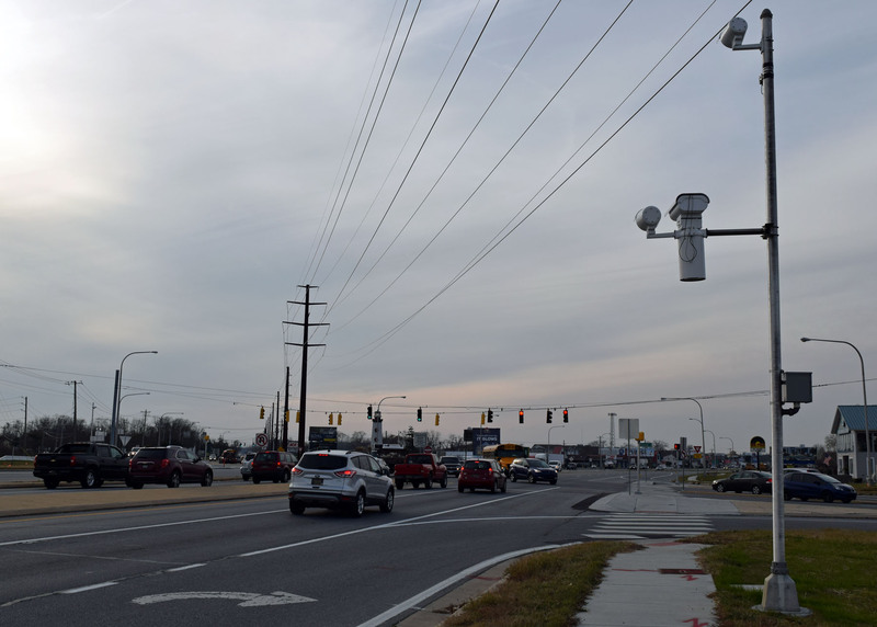 Cameras At The Five Points Intersection In Lewes, Where Route 9 Meets Route  1, Have Caught More Than 75 Drivers Running Red Lights. MADDY LAURIA PHOTO