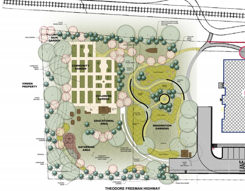 Lewes In Bloom Has Proposed A Design For The New 1 Acre Parcel Of Stango  Park Behind The Lewes Public Library. ERIC WAHL GRAPHIC