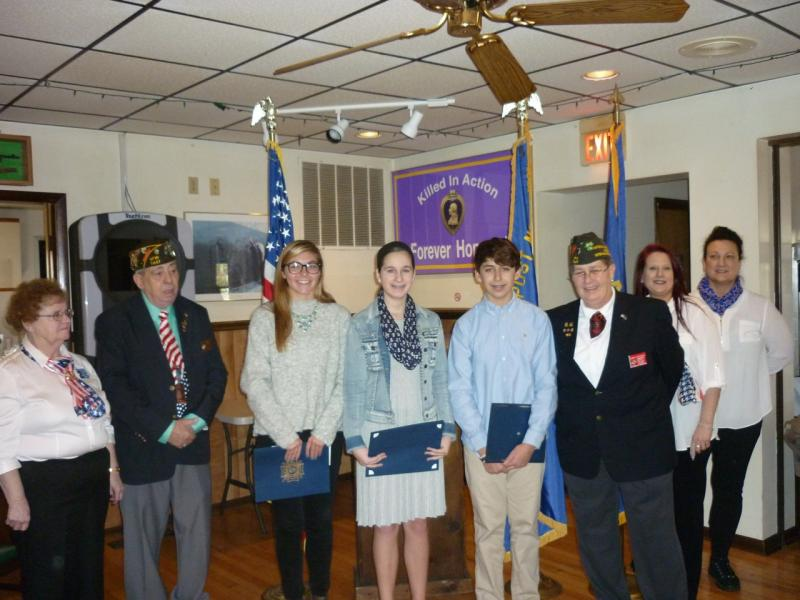 patriotic essay winners honored by rehoboth vfw and auxiliary  patriotic essay winners honored by rehoboth vfw and auxiliary