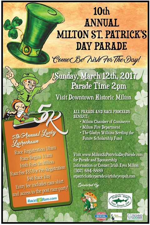 The 10th Annual Milton St Patrick S Day Parade Is Coming