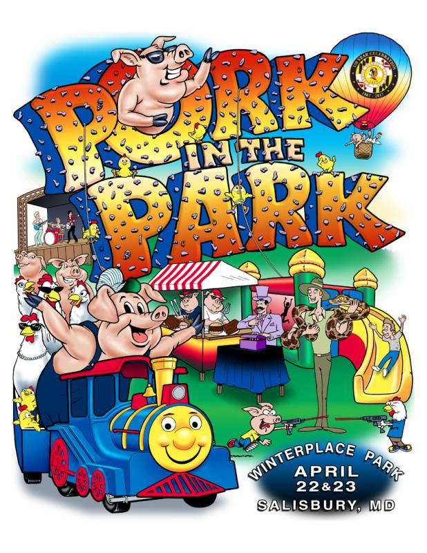 Pork in the Park, Salisbury, festival, Maryland, BBQ, barbecue, barbeque, Wicomico, Eastern Shore, Delmarva