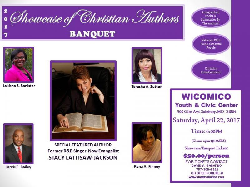 Showcase of Christian Authors Banquet, Christian authors, Wicomico Youth & Civic Center, Wicomico, Salisbury, Maryland