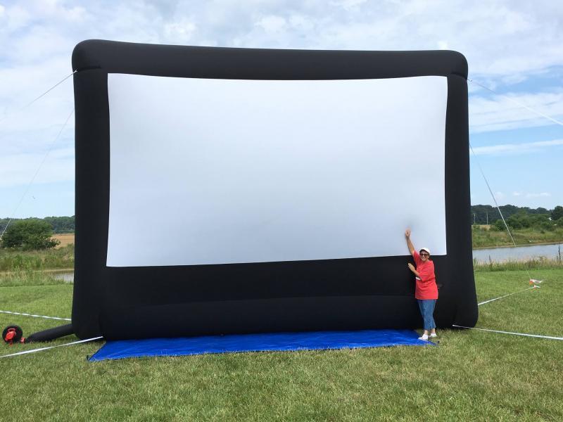 Outdoor movies,Movie night, Event planner, event rentals, party rentals,
