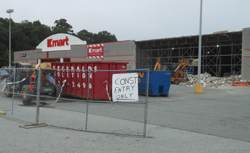 The Kmart in Rehoboth is being redeveloped to include a Christmas Tree Shops and PetSmart. CHRIS FLOOD PHOTO