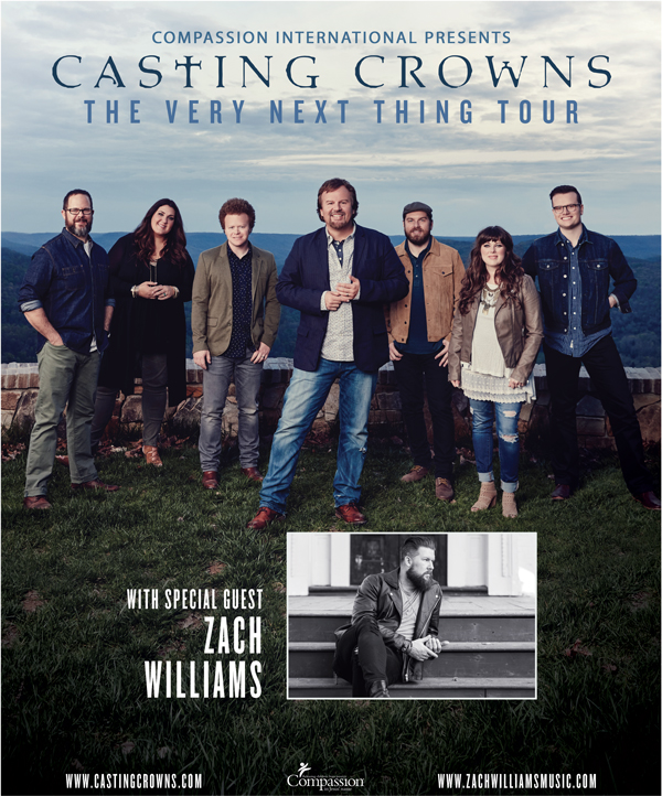 Casting Crowns, Zach Williams, The Very Next Thing, The Very Next Thing Tour, Wicomico Youth & Civic Center, Wicomico Civic Center, Wicomico, Salisbury