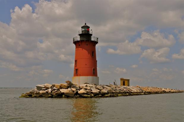 East End Lighthouse Cape Water tours Cape Water Taxi Lewes Delaware  Delaware Bay Strawberry moon