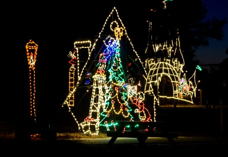 christmas lights line the light spectacular route this year in the cape henlopen state park campground ron macarthur photo - Christmas Lights Virginia Beach