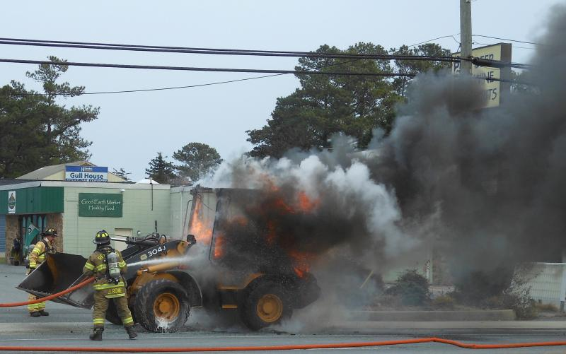 Update Forgotten Mile Open After Tractor Fire Cape Gazette