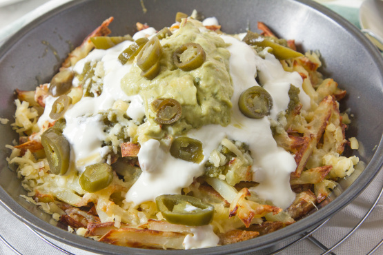 Green nacho fries recipe made with socal guac sauce hot avocado socal guac sauce hot avocado hot sauce sciox Images
