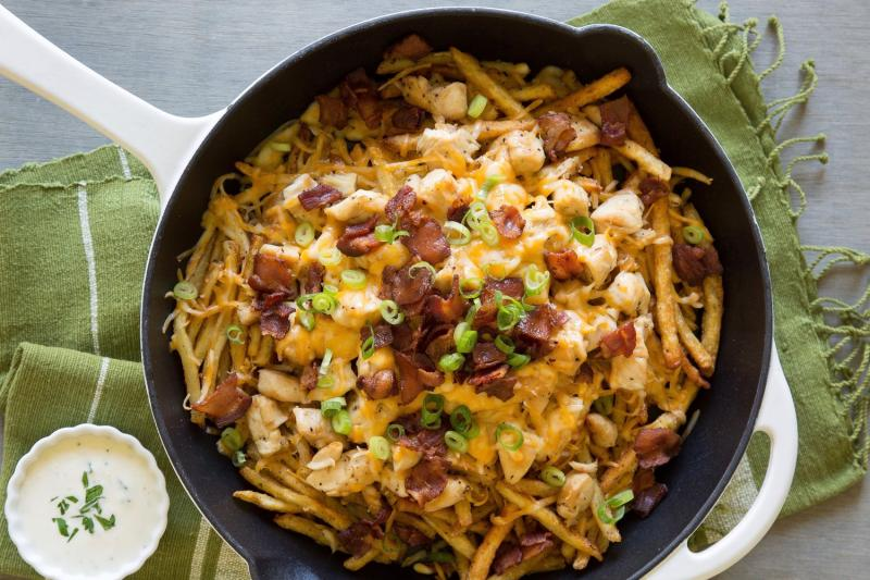 Chicken-Bacon Ranch Fries