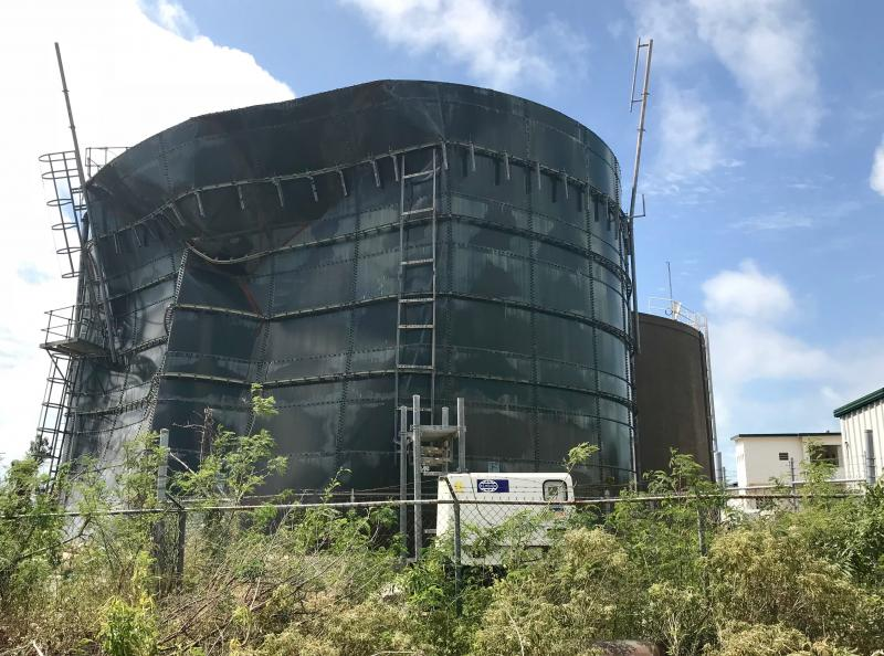 Water Tank Demolition : Anguilla an island climbing back slowly from irma cape