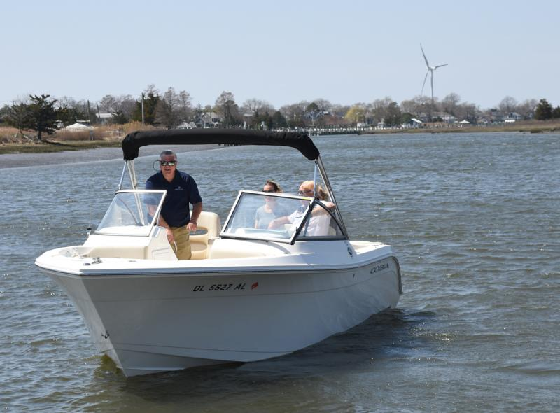 Freedom boat club offers hassle free boating cape gazette freedom boat club co owner tom rosella takes prospective members out on a test drive nick roth photos fandeluxe Gallery