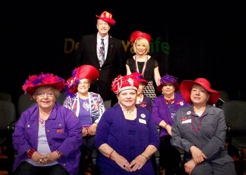 Red Hat Society members featured on WBOC's 'Delmarva Life