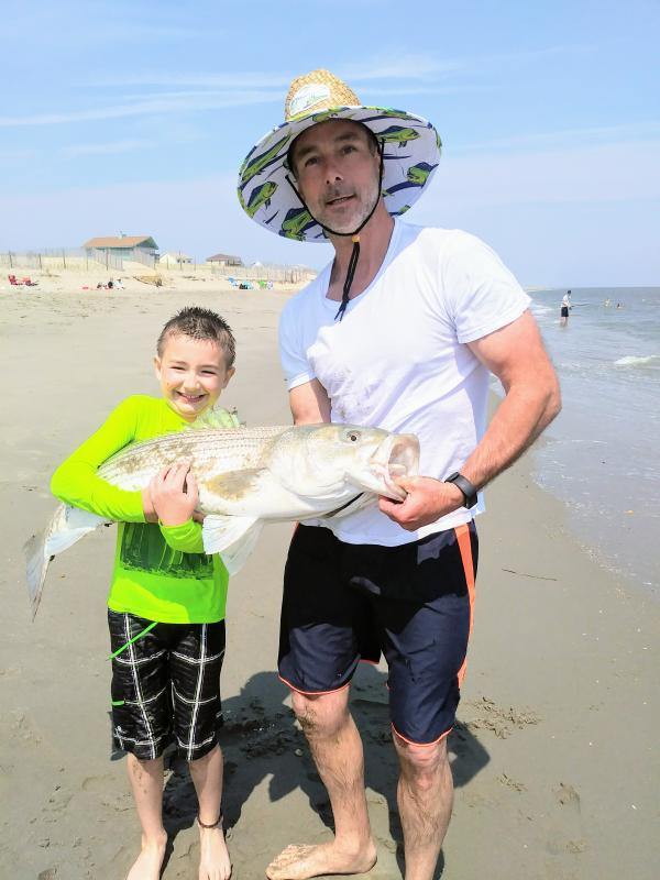 Milton Man Catches Rockfish On Broadkill Beach Cape Gazette