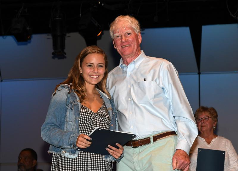 2e2ac481923b Haley Schnupp receives the Greater Lewes Foundation Maureen Schab Fund for  Education scholarship. Shown with Schnupp is Bill Schab