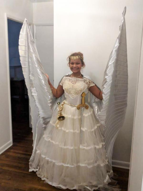 62 Year Old Wedding Dress Reborn In Angelic Way For Dec 8 Pageant