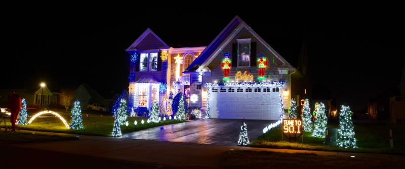 outdoor house christmas lights led super bright marc anthony worosilo and tom negran work for months to set up their christmas light display in henlopen landing near lewes ron macarthur photos lighting the night is couples passion cape gazette