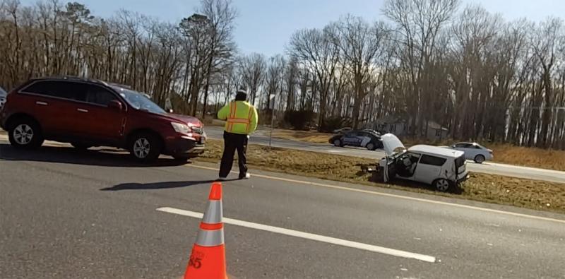 Crash slows traffic on southbound Route 1, Hudson Road   Cape Gazette