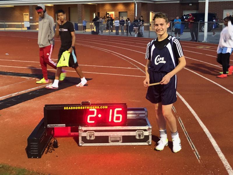 Middle school track athletes put on a show at Cape | Cape Gazette