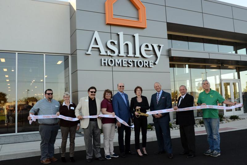 Ashley Home Cuts Ribbon In, Ashley Furniture Anchorage Alaska