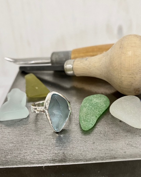 Beach glass ring-making workshop offered March 13
