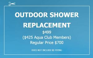 outdoor shower, replacement, Chesapeake Plumbing and Heating