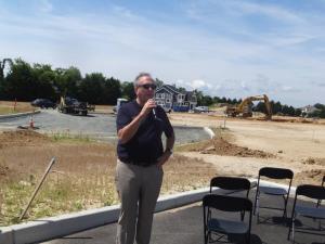 Greg Stevens, President Of Vantage Point Retirement Living, Speaks At The  Groundbreaking Of The Lodge At Truitt Homestead, June 25.
