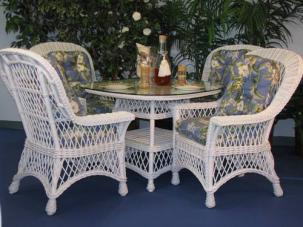wicker dining