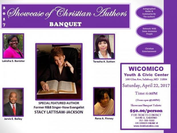 Showcase of Christian Authors Banquet, Christian authors, Wicomico Youth & Civic Center, Wicomico, Salisbury, Maryland