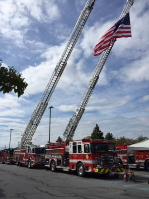 Beautiful Day for Old Glory at Firefighters conference
