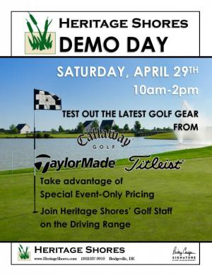 Golf demo day - try new clubs at Heritage Shores!