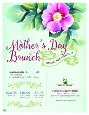 Mother's Day Brunch at Heritage Shores