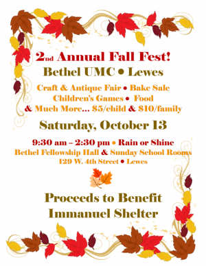 2nd Annual Fall Fest at Bethel